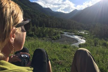 Enjoying Sunset overlooking the Slate River in Crested Butte