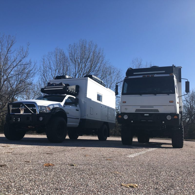 Two If Overland - 6x6 and Dodge 5500 Side by Side